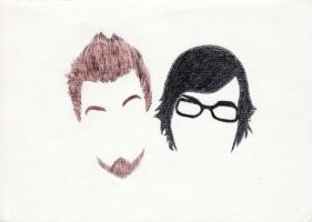 Rhett and Link Heads by Lonacc