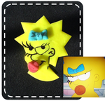 Maggie Simpson ring by strictlyhandmade