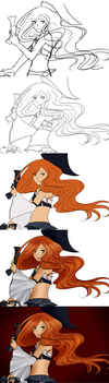 [Progress Shots] 008 - Miss Fortune by Liny-An