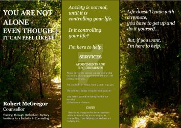 Anxiety Pamphlet For client Side 1 by VenusFlowerDesignNZ