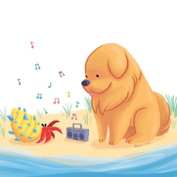 Dog and Crab by aimeezhou