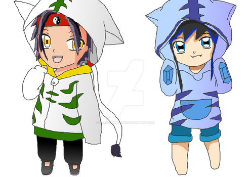 Rei and Crystal Bitbeast Hoodies by DarkElements10