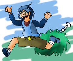 The grass kid version1 by Shauni-chan