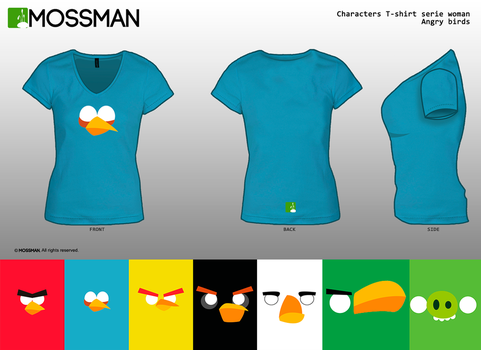 Characters T-shirt serie Woman - Angry birds by Mrmossman