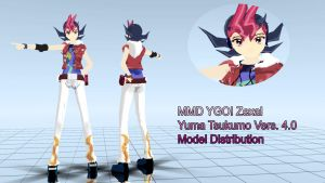MMD YGO! Yuma Tsukumo Vers. 4.0 Model Distribution by TwoSidedMMD