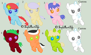 Mlp Adoptables ( 5/8 OPEN) by TheLondonJamJar