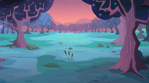 Group Background #6 - Orchard sunset by MLP-Vector-Collabs