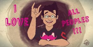 Markiplier 24 ~ I LOVE ALL PEOPLES!! by wilhelmblack1945