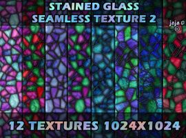 Stained glass seamless texture 2 by jojo-ojoj