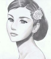 Audrey Hepburn by Anime019se