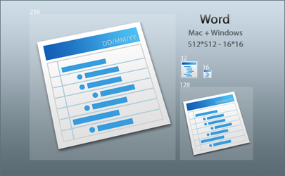 Slanted Word Icon by DoNotThrowAway