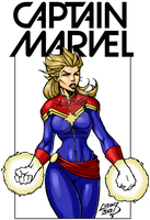 Captain Marvel 2012 COLORED by LucasAckerman