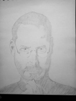 Steve Jobs book picture on 2B pencil by vrl97