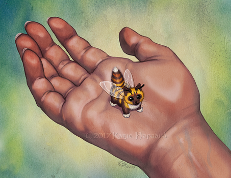 Kitten Bee by KatieHofgard