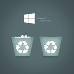 Recycle bin Icon for windows 10 by karara160