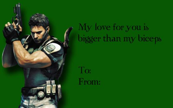 Tacky RE Valentines-Chris Redfield by Isobel-Theroux