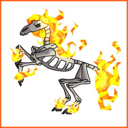 Scorched GoreHorse - Simple Concept Art by Draggaco