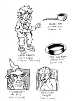 Hobbit Doodles by Erikku8