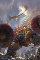 Monkey King Julin God war by fengua-zhong
