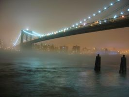 Brooklyn Bridge in fog II by peristera716