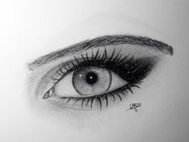 Kim Kardashian's Eye by ChristopheragArt