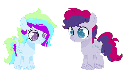 Prism and Sunprise: Cupcakeverse by Cupcakeblue22