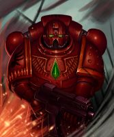 Blood angel-Space marine by 1nkor