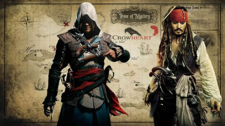 Edward Kenway and Jack Sparrow: Legends by LukenCrowheart