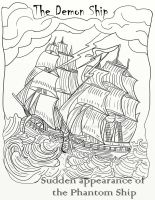Demon Ship - Penny Dreadfuls Adult Coloring Page by LorraineKelly
