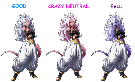 DBF: Android 21 Forms by FrostTheHobidon