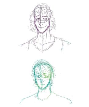 First Tablet Sketches by Wickacti