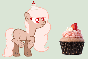 Sweetiecream the cupcake pony by Thunderlist