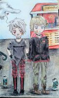 APH ~ Gilbert and Ludwig  ~ by TheEleventhMoonRose