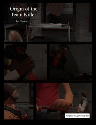 Origin of the Team Killer Page 1 by Blu-Scout18