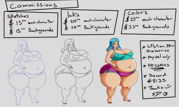 New Commission Prices by shydude