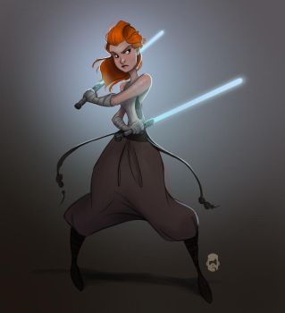 Red Jedi by MattThorup
