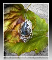 'Phoenix tears' sterling silver pendant SOLD by seralune