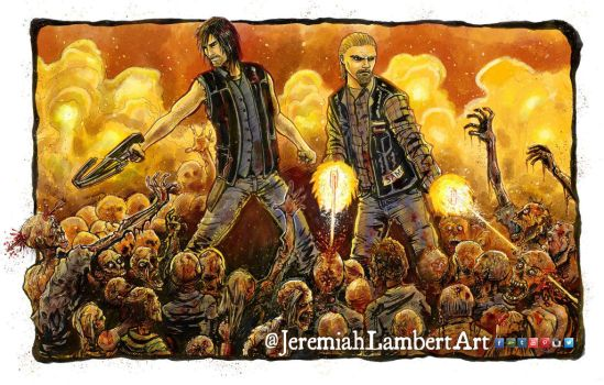 The Walking Sons of the Dead by JeremiahLambertArt
