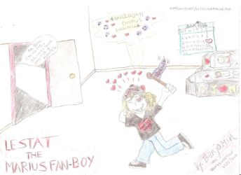 Lestat the Marius Fan Boy by wolfMancub