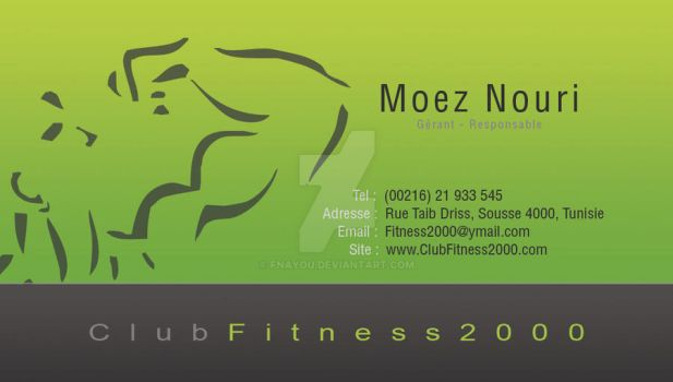 Fnayou 0 Fitness 2000 Carte Visite 1 By