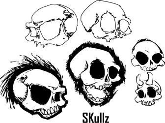 Skullz Brushes by Babeliloo