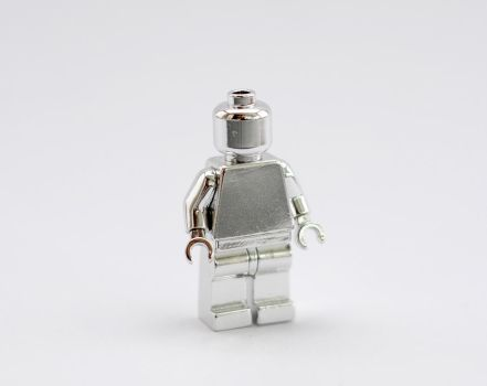 Chrome LEGO minifigure by Masonkh
