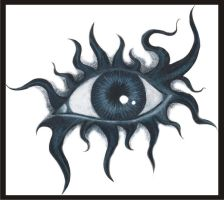 Eye tattoo by melancholy-spiders