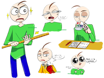Baldi Doodles by DragonChaser195