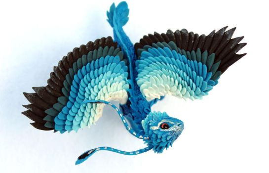 Little blue feather dragon by hontor