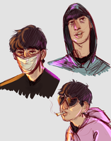 Uhhh Joji Doodles by destiny-draws