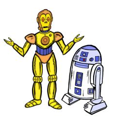 Star Wars - Droids by mikedaws