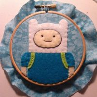 Finn Embroidery Hoop by chelpanda