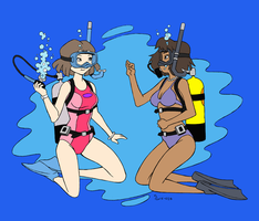 Weekenders Mom's Scuba 2 - Color Commission by The-Sakura-Samurai