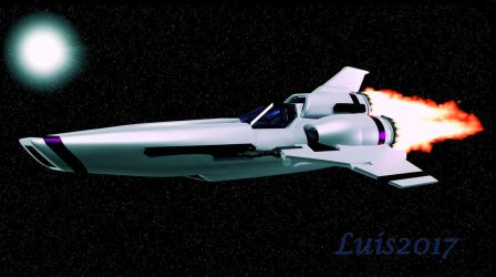 Colonial Viper with Afterburner by OLGWoodArt